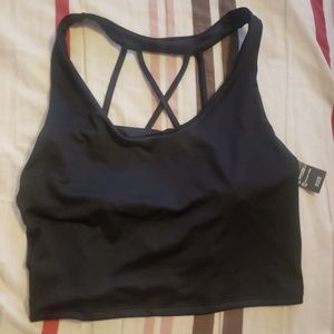 Tank sports bra large strapy back